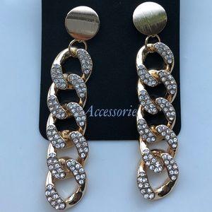 Gold Chain Drop Earrings